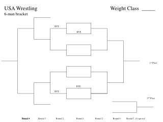 USA Wrestling 6-man bracket