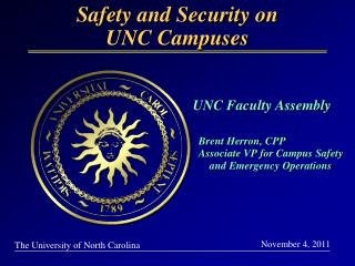 Safety and Security on UNC Campuses