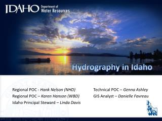 Hydrography in Idaho