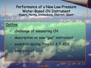 "Outline challenge of measuring CN  description of new ""gap"" instrument"