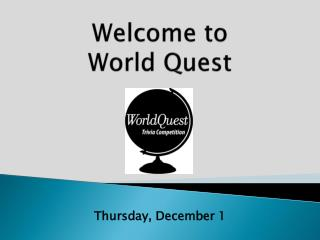 Welcome to World Quest