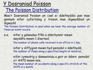 Y Dosraniad Poisson