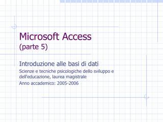 Microsoft Access (parte 5)