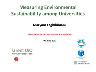 Measuring Environmental Sustainability among Universities