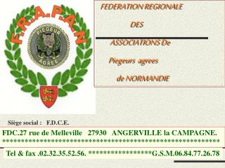 FEDERATION REGIONALE                       DES          ASSOCIATIONS De