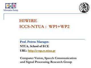ICCS-NTUA :  WP1+WP2