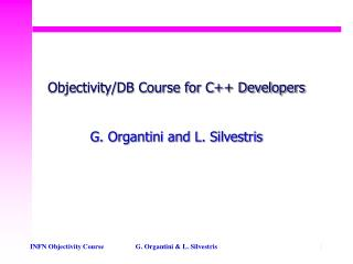 Objectivity/DB Course for C++ Developers