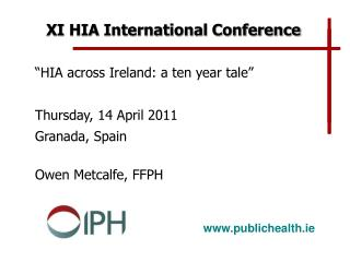 XI HIA International Conference