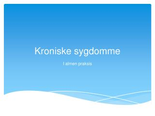 Kroniske sygdomme