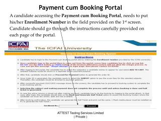 Payment cum Booking Portal