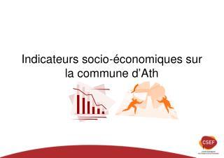 Indicateurs socio-économiques sur la commune d'Ath