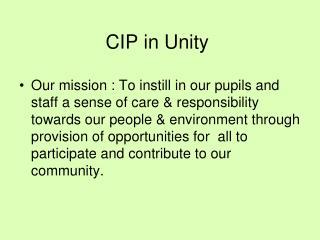 CIP in Unity