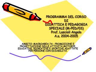 Programma dell'insegnamento :
