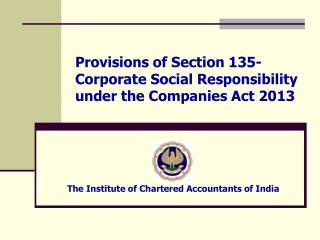 Provisions of Section 135- Corporate Social Responsibility under the Companies Act 2013