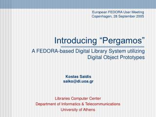 "Introducing ""Pergamos"""