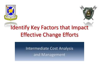 Identify Key Factors that Impact Effective Change Efforts