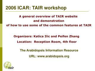 2006 ICAR: TAIR workshop
