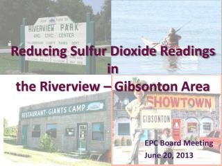 Reducing Sulfur Dioxide Readings in the Riverview –  Gibsonton  Area