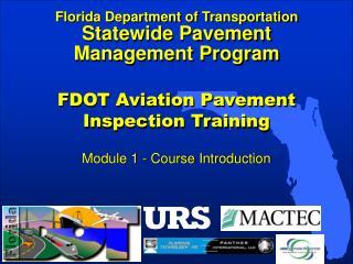 FDOT Aviation Pavement Inspection Training