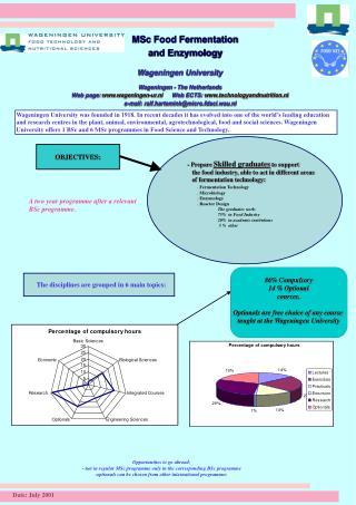 MSc Food Fermentation and Enzymology Wageningen University Wageningen - The Netherlands