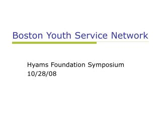 Boston Youth Service Network