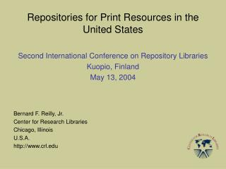 Repositories for Print Resources in the United States