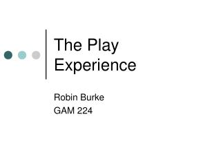 The Play Experience