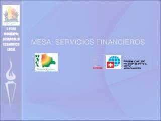 MESA: SERVICIOS FINANCIEROS