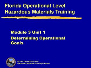 Module 3 Unit 1 Determining Operational Goals