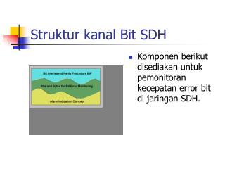 Struktur kanal Bit  SDH