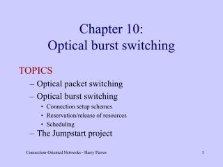 Chapter 10: Optical burst switching