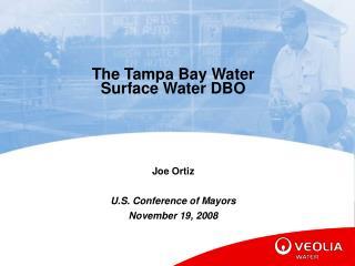 The Tampa Bay Water Surface Water DBO Joe Ortiz U.S. Conference of Mayors November 19, 2008