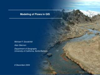 Modeling of Flows in GIS