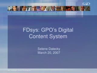 Selene Dalecky March 20, 2007