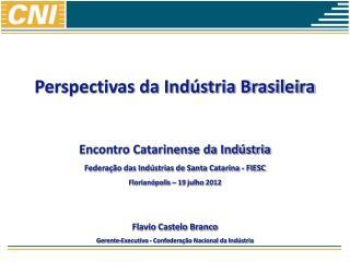 Perspectivas da Indústria Brasileira Encontro Catarinense da Indústria