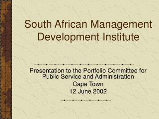 South African Management Development Institute