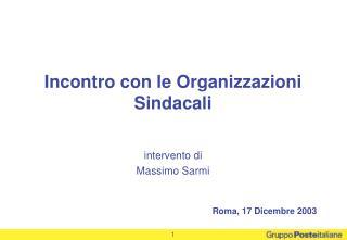 intervento di  Massimo Sarmi