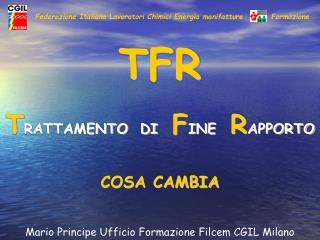 Federazione Italiana Lavoratori Chimici Energia manifatture          Formazione