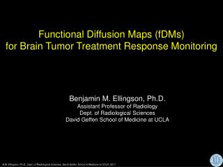 Functional Diffusion Maps (fDMs) for Brain Tumor Treatment Response Monitoring