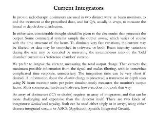 Current Integrators