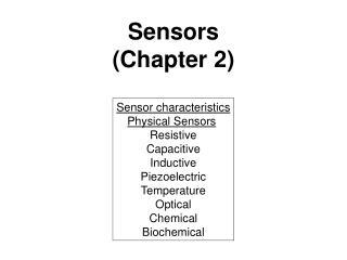 Sensors (Chapter 2)
