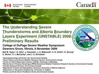 College of DuPage Severe Weather Symposium Downers Grove, Illinois, 6 November 2009