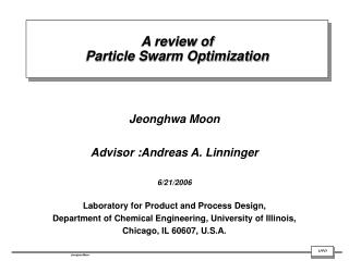 A review of  Particle Swarm Optimization
