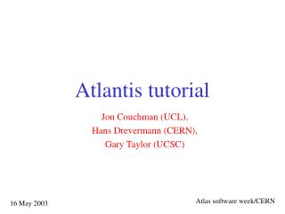 Atlantis tutorial