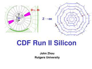 CDF Run II Silicon