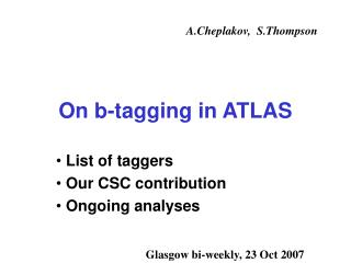 On b-tagging in ATLAS