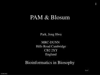 PAM & Blosum