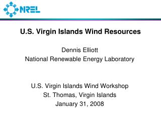 U.S. Virgin Islands Wind Resources