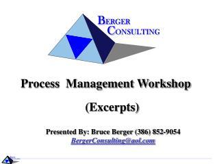 Process  Management Workshop