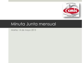 Minuta Junta mensual